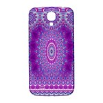 India Ornaments Mandala Pillar Blue Violet Samsung Galaxy S4 I9500/I9505  Hardshell Back Case Front
