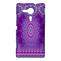 India Ornaments Mandala Pillar Blue Violet Sony Xperia SP