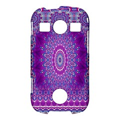 India Ornaments Mandala Pillar Blue Violet Samsung Galaxy S7710 Xcover 2 Hardshell Case