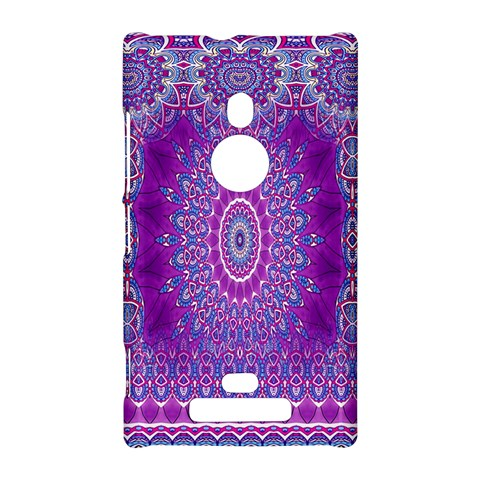 India Ornaments Mandala Pillar Blue Violet Nokia Lumia 925