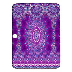 India Ornaments Mandala Pillar Blue Violet Samsung Galaxy Tab 3 (10.1 ) P5200 Hardshell Case