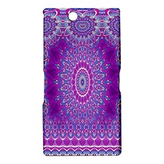 India Ornaments Mandala Pillar Blue Violet Sony Xperia Z Ultra