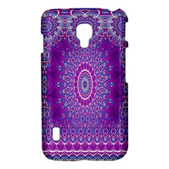 India Ornaments Mandala Pillar Blue Violet LG Optimus L7 II