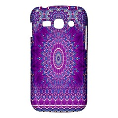 India Ornaments Mandala Pillar Blue Violet Samsung Galaxy Ace 3 S7272 Hardshell Case