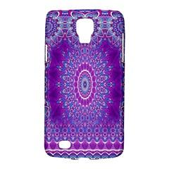 India Ornaments Mandala Pillar Blue Violet Galaxy S4 Active