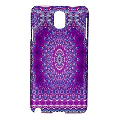 India Ornaments Mandala Pillar Blue Violet Samsung Galaxy Note 3 N9005 Hardshell Case