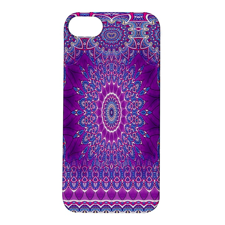 India Ornaments Mandala Pillar Blue Violet Apple iPhone 5S/ SE Hardshell Case