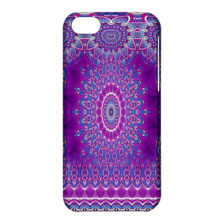 India Ornaments Mandala Pillar Blue Violet Apple iPhone 5C Hardshell Case
