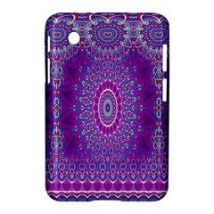 India Ornaments Mandala Pillar Blue Violet Samsung Galaxy Tab 2 (7 ) P3100 Hardshell Case