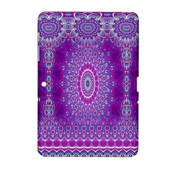 India Ornaments Mandala Pillar Blue Violet Samsung Galaxy Tab 2 (10.1 ) P5100 Hardshell Case