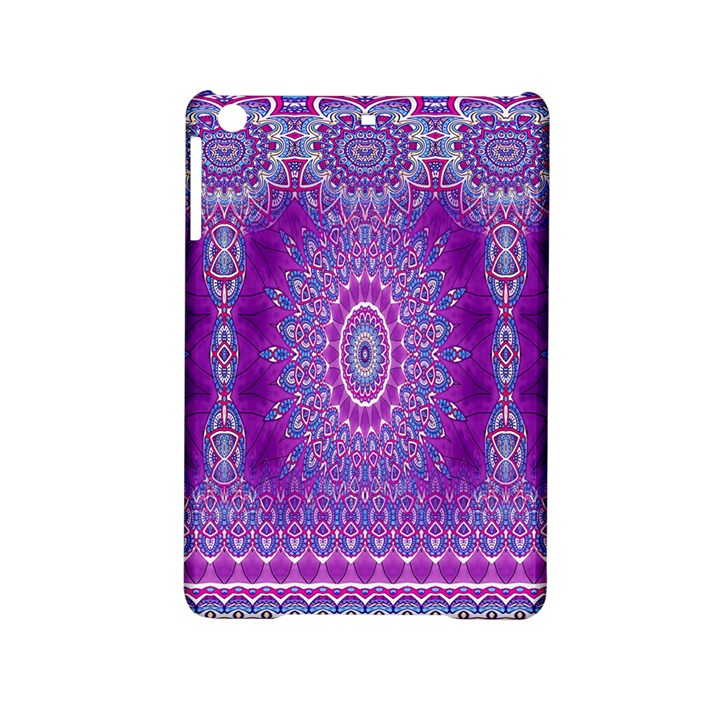 India Ornaments Mandala Pillar Blue Violet iPad Mini 2 Hardshell Cases
