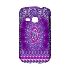 India Ornaments Mandala Pillar Blue Violet Samsung Galaxy S6310 Hardshell Case