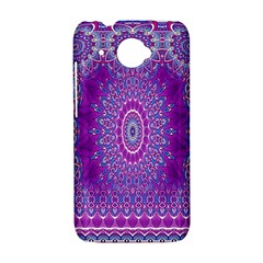 India Ornaments Mandala Pillar Blue Violet HTC Desire 601 Hardshell Case