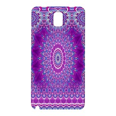 India Ornaments Mandala Pillar Blue Violet Samsung Galaxy Note 3 N9005 Hardshell Back Case