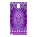 India Ornaments Mandala Pillar Blue Violet Samsung Galaxy Note 3 N9005 Hardshell Back Case Front