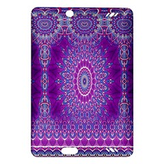 India Ornaments Mandala Pillar Blue Violet Amazon Kindle Fire HD (2013) Hardshell Case