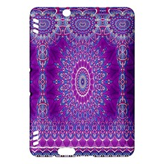 India Ornaments Mandala Pillar Blue Violet Kindle Fire HDX Hardshell Case