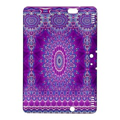 India Ornaments Mandala Pillar Blue Violet Kindle Fire Hdx 8 9  Hardshell Case