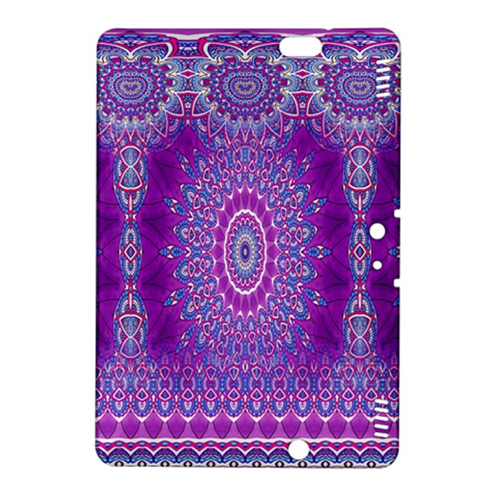 India Ornaments Mandala Pillar Blue Violet Kindle Fire HDX 8.9  Hardshell Case