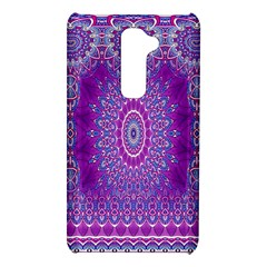 India Ornaments Mandala Pillar Blue Violet LG G2
