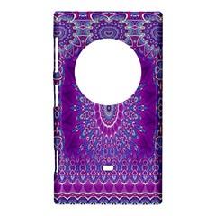 India Ornaments Mandala Pillar Blue Violet Nokia Lumia 1020