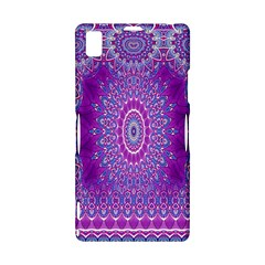 India Ornaments Mandala Pillar Blue Violet Sony Xperia Z1