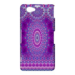 India Ornaments Mandala Pillar Blue Violet Sony Xperia Z1 Compact