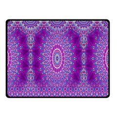 India Ornaments Mandala Pillar Blue Violet Double Sided Fleece Blanket (small)