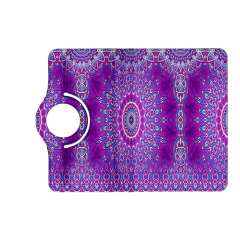 India Ornaments Mandala Pillar Blue Violet Kindle Fire HD (2013) Flip 360 Case