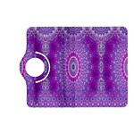 India Ornaments Mandala Pillar Blue Violet Kindle Fire HD (2013) Flip 360 Case Front