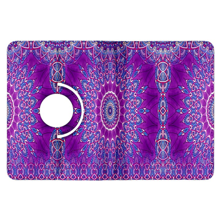 India Ornaments Mandala Pillar Blue Violet Kindle Fire HDX Flip 360 Case