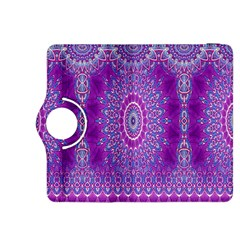 India Ornaments Mandala Pillar Blue Violet Kindle Fire HDX 8.9  Flip 360 Case