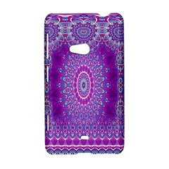 India Ornaments Mandala Pillar Blue Violet Nokia Lumia 625
