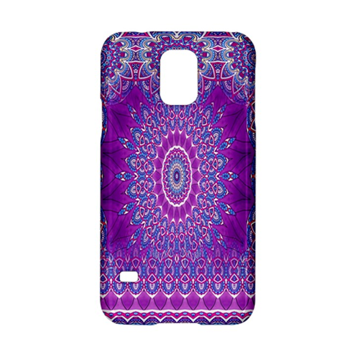 India Ornaments Mandala Pillar Blue Violet Samsung Galaxy S5 Hardshell Case