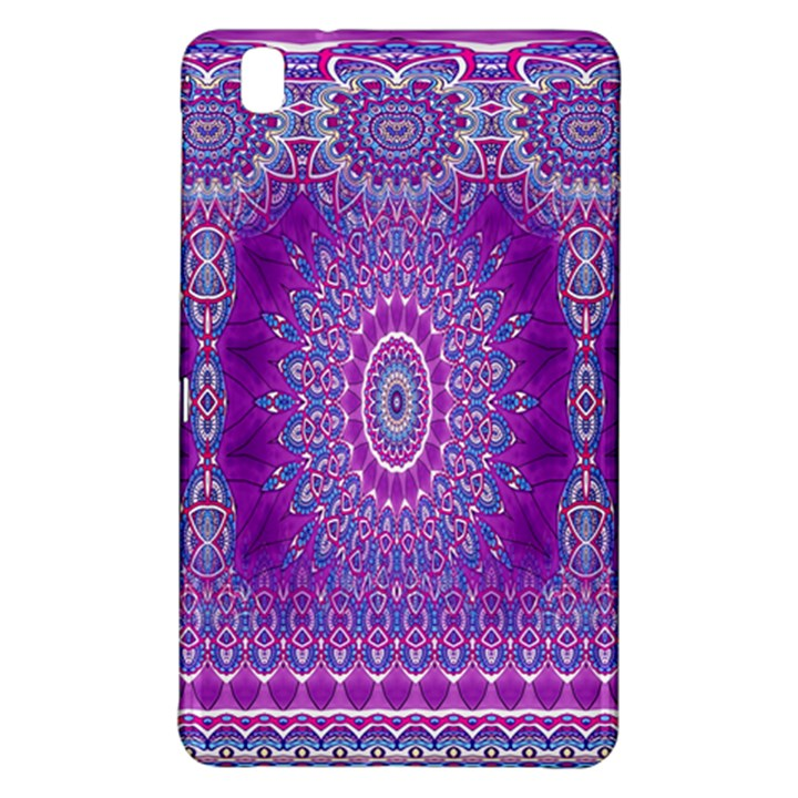 India Ornaments Mandala Pillar Blue Violet Samsung Galaxy Tab Pro 8.4 Hardshell Case