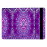 India Ornaments Mandala Pillar Blue Violet Samsung Galaxy Tab Pro 12.2  Flip Case Front