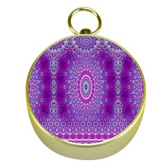 India Ornaments Mandala Pillar Blue Violet Gold Compasses