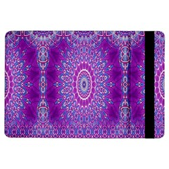 India Ornaments Mandala Pillar Blue Violet iPad Air Flip