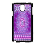 India Ornaments Mandala Pillar Blue Violet Samsung Galaxy Note 3 Neo Hardshell Case (Black) Front