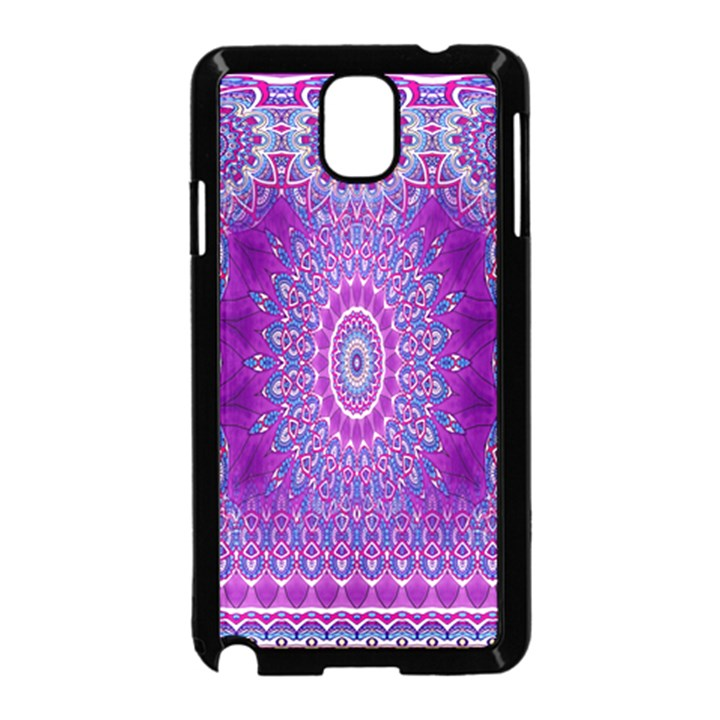 India Ornaments Mandala Pillar Blue Violet Samsung Galaxy Note 3 Neo Hardshell Case (Black)
