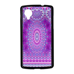 India Ornaments Mandala Pillar Blue Violet Nexus 5 Case (Black)