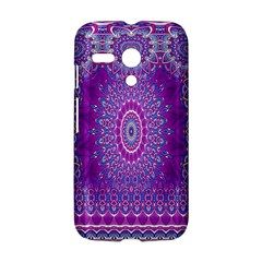 India Ornaments Mandala Pillar Blue Violet Motorola Moto G