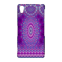 India Ornaments Mandala Pillar Blue Violet Sony Xperia Z2