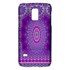 India Ornaments Mandala Pillar Blue Violet Galaxy S5 Mini