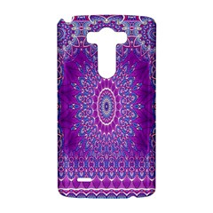 India Ornaments Mandala Pillar Blue Violet LG G3 Hardshell Case