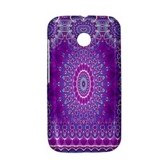India Ornaments Mandala Pillar Blue Violet Motorola Moto E