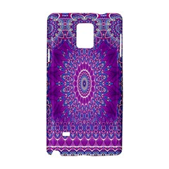 India Ornaments Mandala Pillar Blue Violet Samsung Galaxy Note 4 Hardshell Case