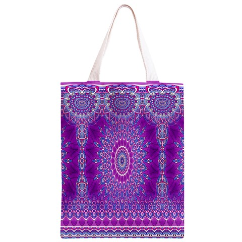 India Ornaments Mandala Pillar Blue Violet Classic Light Tote Bag