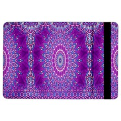 India Ornaments Mandala Pillar Blue Violet iPad Air 2 Flip