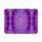 India Ornaments Mandala Pillar Blue Violet Double Sided Flano Blanket (Mini)  35 x27 Blanket Back